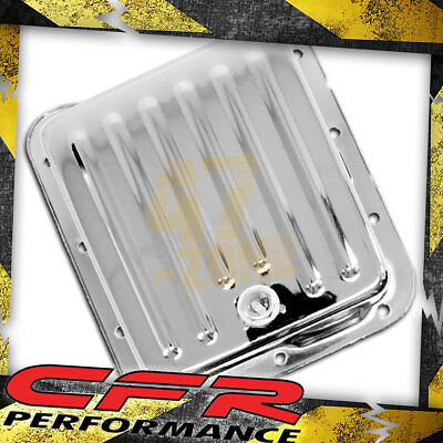 Stock Capacity Ford C4 Black Steel Automatic Transmission Pan Case Fill Style