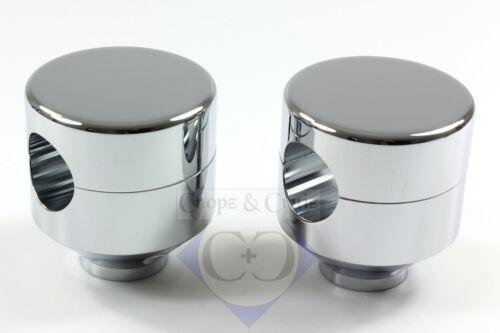 Riser/Lenkerhalter mit ABE - Piston - 42 mm hoch - M12 - 1 Zoll - Alu verchromt