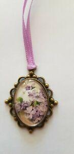 Amulet-Medallion-Flowers-Approx-1-3-16in-Unique-Handarbeit-For-Bear-Etc