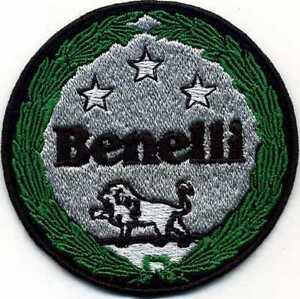 Toppa Ricamata Patch Termoadesiva Logo Marchio Benelli Cm. 7,5