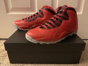 size 40 4819f a1e04 Image is loading AIR-JORDAN-10-RETRO-30TH-034-BULLS-OVER-