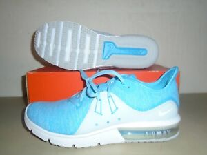 New-Womens-Nike-Air-Max-Sequent-3-Blue-Fury-White-Running-Shoes-sz-10