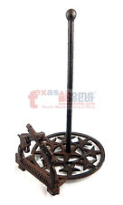Western Crossed Pistols Stars Paper Towel Holder Cast Iron Rustic Brown Finish
