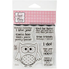 """Sweet 'n Sassy Clear Stamps 4""""X4""""-Owl Be There SNS12037"""