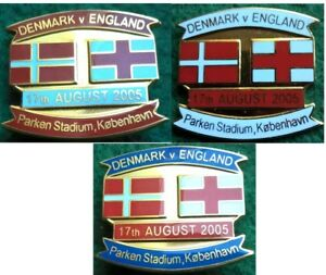Denmark-v-England-Friendly-Parken-Stadium-Kobenhavn-17-August-2005-Pin-Badge