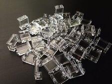 LOT 50 BRAND NEW LEGO WINDOWS WALL 1x2x2 Translucent Clear Brick 2x1 1x2 25 100