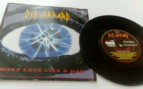 "1 of 1 - Make Love Like A Man Def Leppard 7"" vinyl single record UK LEP7 BLUDGEON 1992"