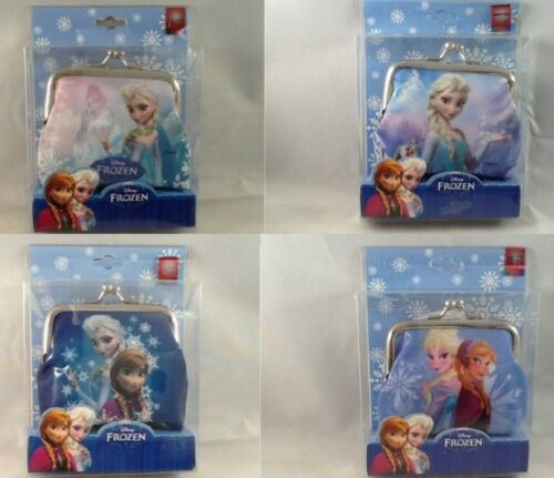 DISNEY FROZEN ANNA ELSA Gift Boxed Clasp Shut Coin Purse 8cm x 8cm MANY DESIGNS