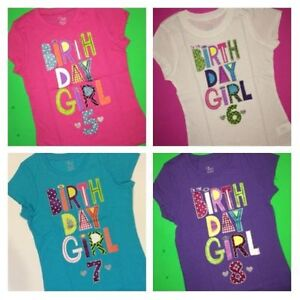 ~NEW 5th 6th 7th 8th BIRTHDAY GIRL Shirts 5 6 7 8 Years 5 ...