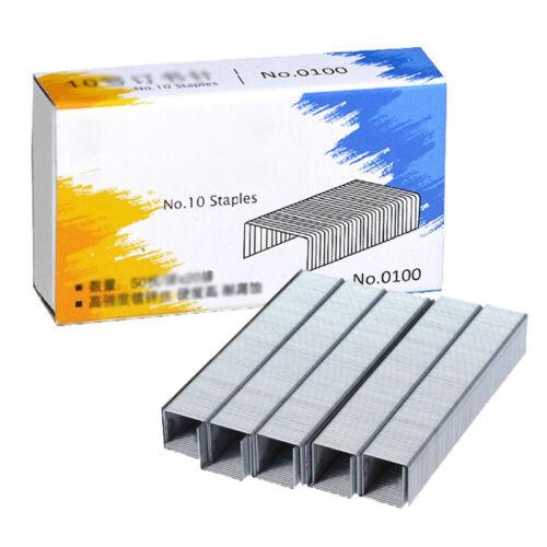 Heftklammern Werkzeug Kit Metall Büro Zubehör No.10 0010 8.4x5mm Praktisch