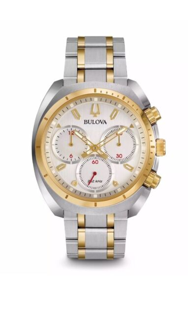 BULOVA Curv Chronograph Two-Tone Stainless Steel Men's Watch 98A157