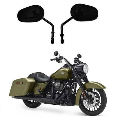 Matte Black RearView Side Mirrors Fit For Harley Sportster Softail Touring Dyna