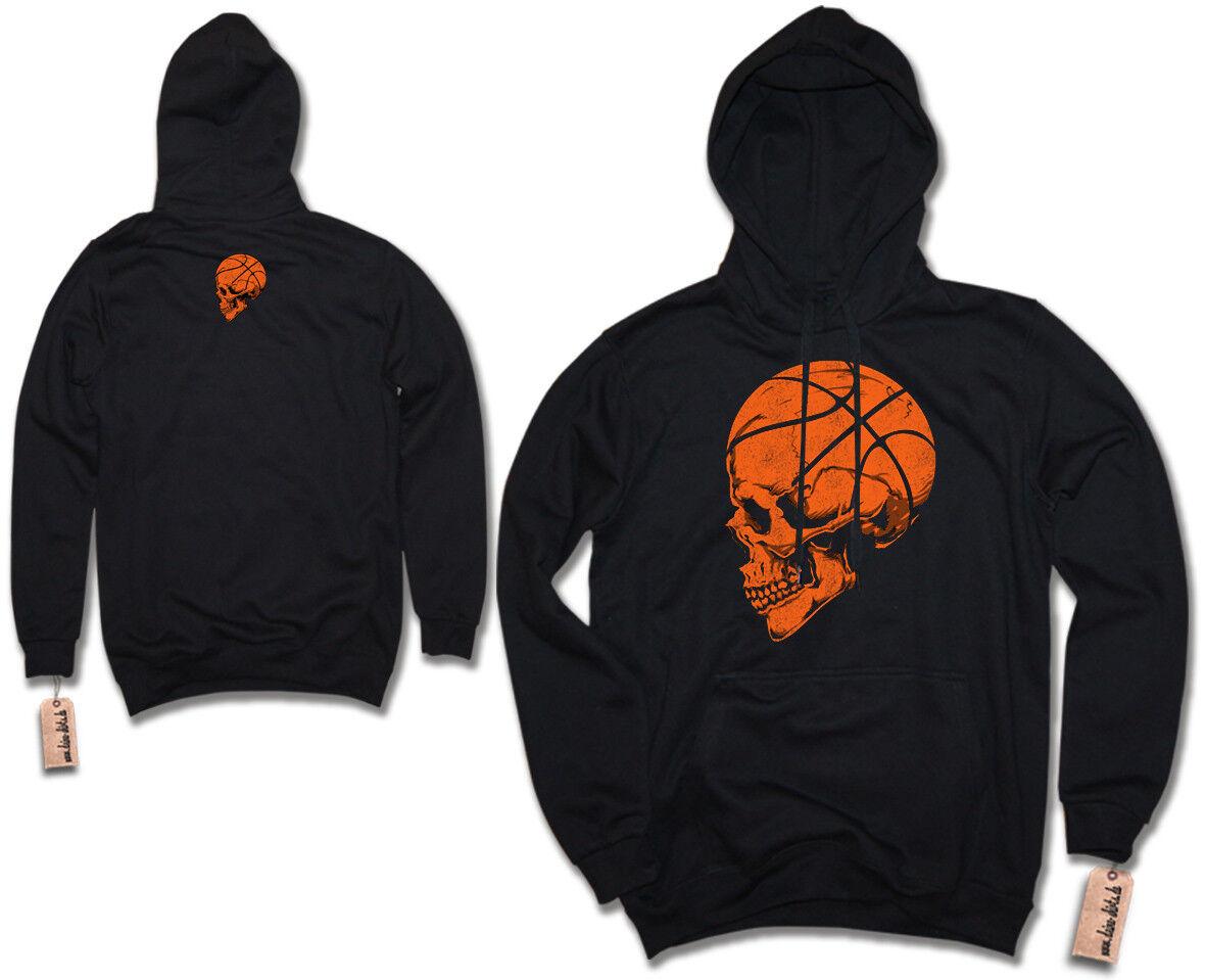 Hoodie - BASKETBALL SKULL - Trikot Totenkopf NBA Player Kapuzenpullover S-XXL