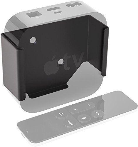 Out of sight Behind the TV Mount Premium Apple TV 4 Mount Black Bracket Holder