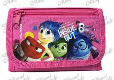 Disney Inside Out Kids Tri-Fold Wallet Coin Purse Bag [Pink]