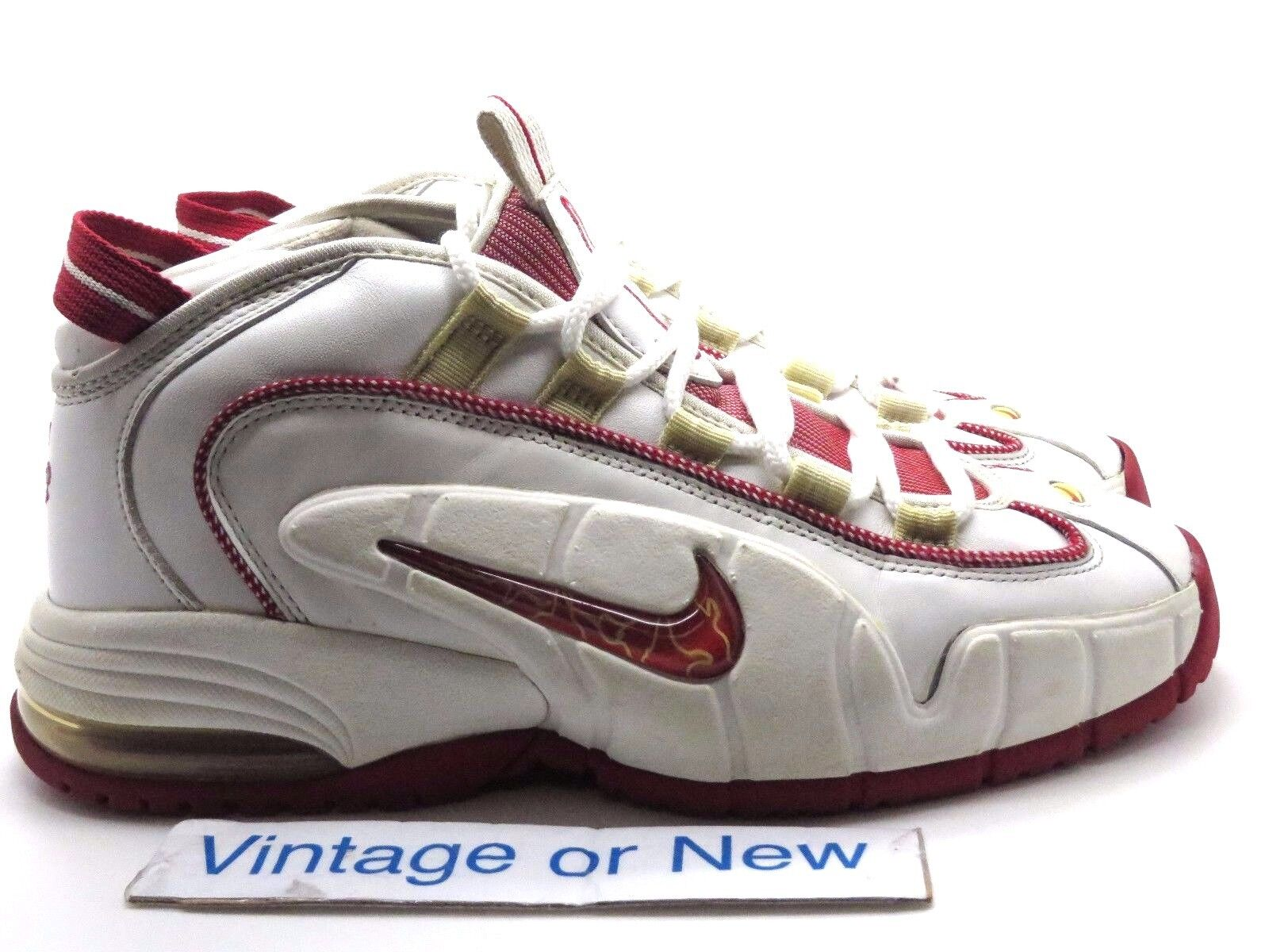 Nike Air Max Penny 1 I White Varsity Red 2005 sz 10.5
