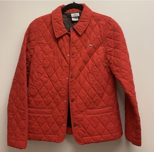 Lacoste Red Quilted Jacket