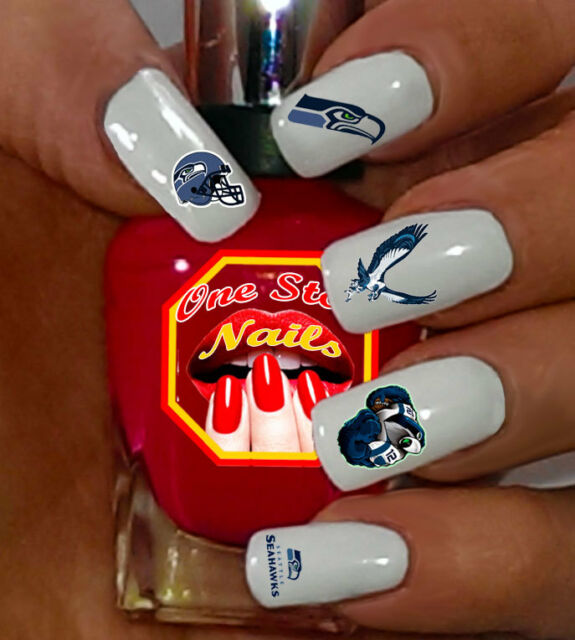 68pcs Seattle Seahawks Nail Art Decals Stickers Transfers Ss 001 68