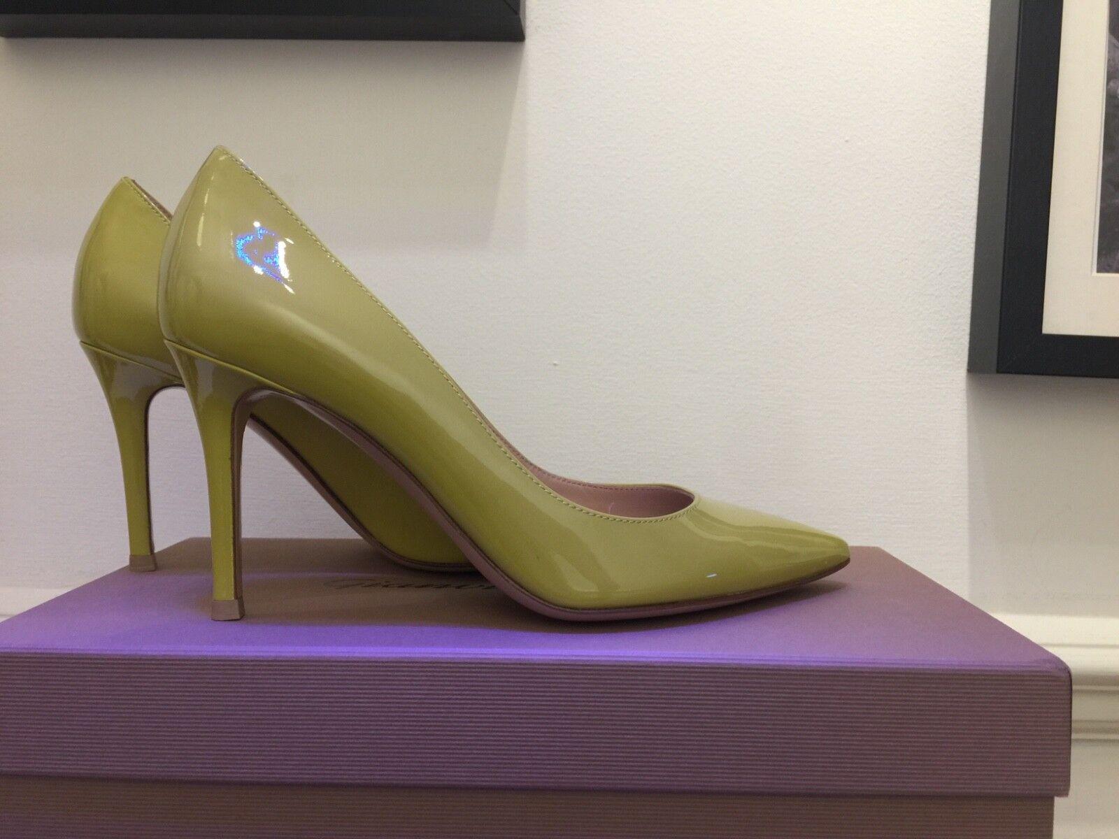 Gianvito Rossi  Lime Patente in pelle, Heels Dimensione EUR 37   Dimensione del Regno Unito 4  Sconto del 60%