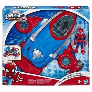 Marvel-Spiderman-Jetquarters-Super-Hero-Aventures-Playskool-Ensemble-de-Jeux