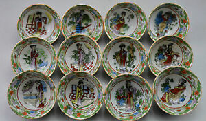 Asia-Collectible-Decorated-Old-Handwork-Porcelain-Painted-Honglou-12-Belle-Cup