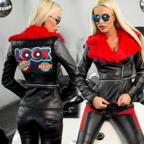 Giacca invernale Giacca giacca da di Ocassion donna m pelliccia Leatherlook Xxs corta da Giacca Giacca Giacca H0xBrwHq