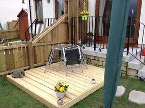 Image Is Loading Timber Diy Garden Decking Kits 3 6x3 6