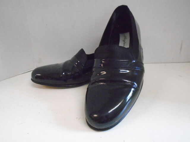 Mezlan nero Patent Mirage Men's scarpe Loafers Dress Dress Dress Tuxedo 10 M Leather Spain c5e6d9