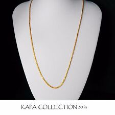 Kapa Jewellery 22k Gold Plated Necklace for Men or Women Chain Indian gold look