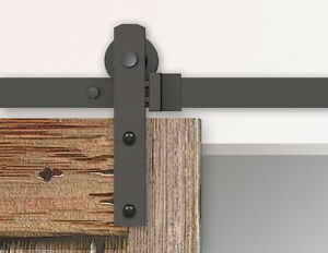 Merveilleux Image Is Loading 5 6 10FT Black Rustic Sliding Barn Door