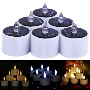 Image Is Loading 1 6 12pcs Solar Ed Led Candles Flameless