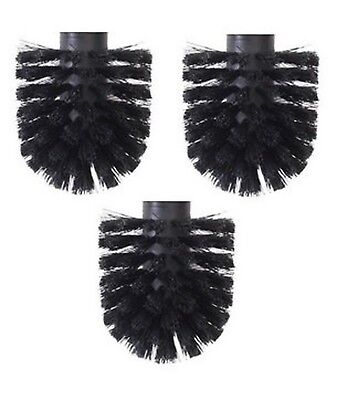 3x replacement toilet brush heads for toilettree wc