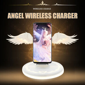 Qi-Wireless-Charger-Dock-Angel-Wings-Fast-Charging-Stand-For-iPhone-11-Pro-Max