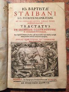 Staibani-Tractatus-de-interesse-contractuum-e-ultimarum-voluntatum-Napoli-1654