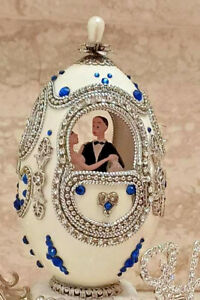 Bride Groom Wedding day gift from parent Faberge Egg & Necklace * Bracelet 1ONLY