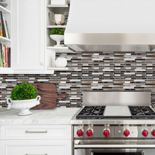 Kitchen Tile Stickers Bathroom 3D Mosaic Self-adhesive Wall Cover Decal Sticker