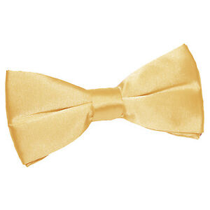 DQT Satin Plain Solid Apple Red Formal Classic Mens Pre-Tied Bow Tie