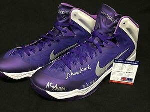AC Green Signed Lakers Nike Basketball Shoes