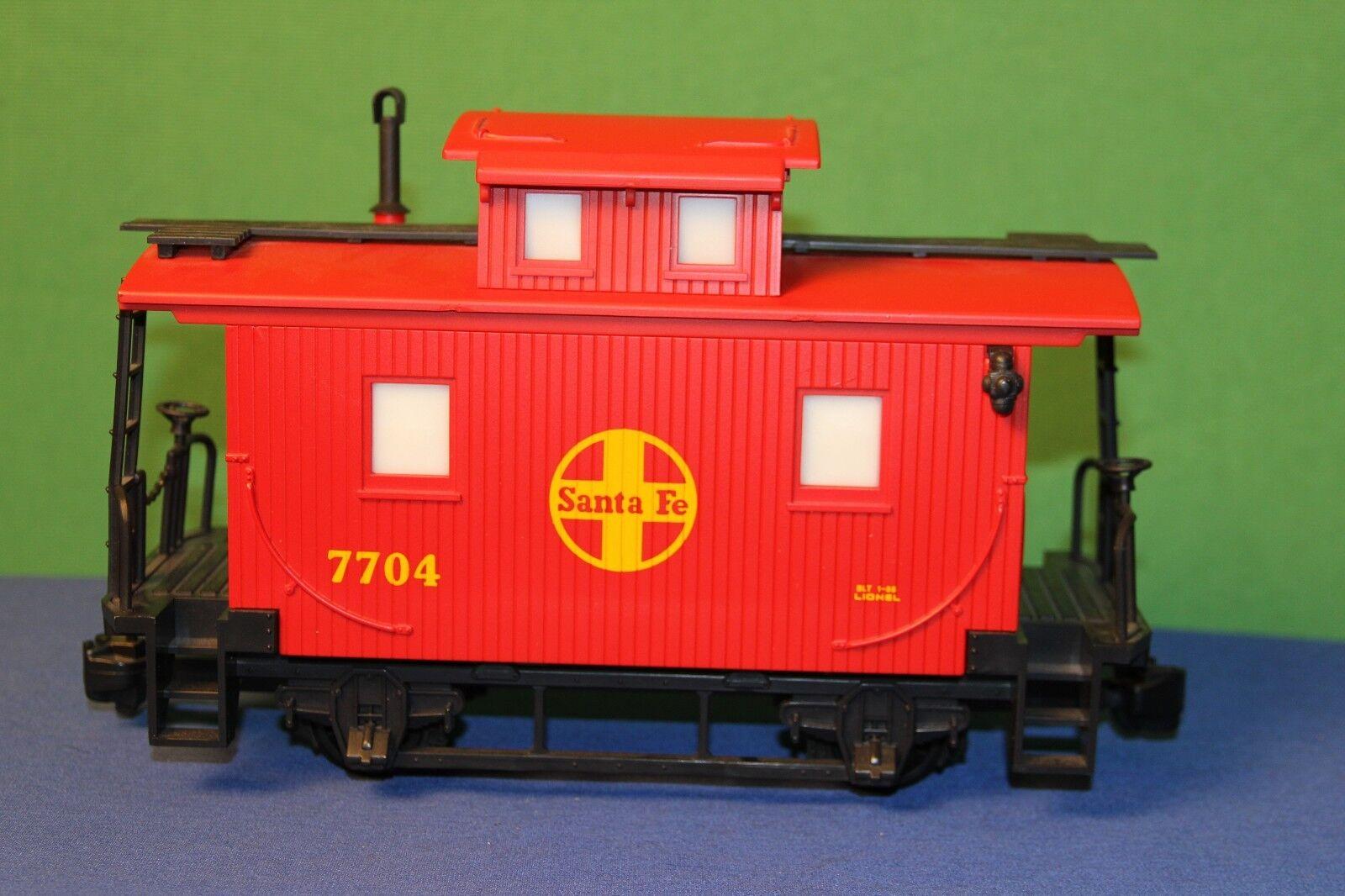 Lionel Santa Fe 7704 Red G-Gauge Caboose