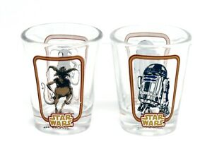 NEW-Funko-Star-Wars-Shot-Glass-Toothpick-Holder-Set-of-2-R2-D2-amp-Salacious-Crum