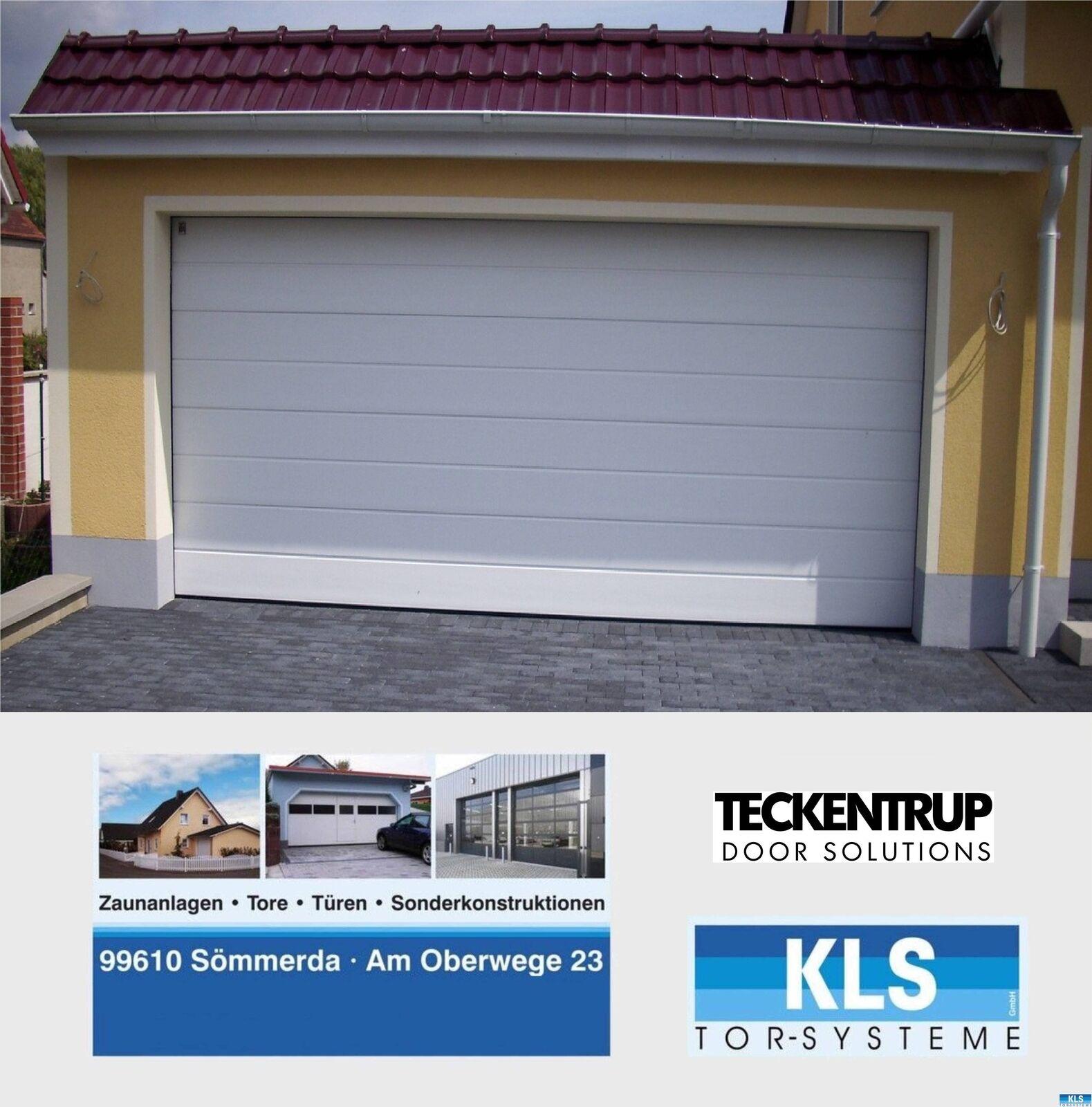 Garagentor Sektionaltor Sectionaltor Garage 5000 Tor wärmegedämmt mit Antrieb