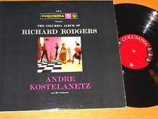 "MONO ORCHESTRA DOUBLE LP - ANDRE KOSTELANETZ - COLUMBIA C2L-3 - ""RICHARD ROGERS"""
