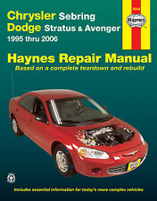 Haynes 25040 Repair Manual Chrysler Sebring & Dodge Stratus & Avenger 1995-2006