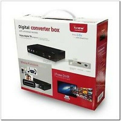 Digital Converter Box with Universal Remote, New, iView 3500STBII, Free DVR