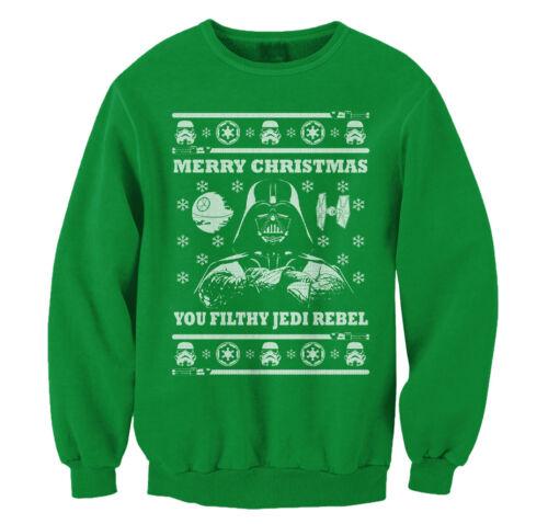 UGLY Star Wars Noël Parodie Sweater Dark Vador Filty Jedi rebelle Sweat
