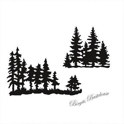 CrafTables 2 x Stanzschablone Tanne Winterwald CR1287 - Baum