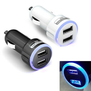QC3.0 Double USB Port LED Universal Car Cigar Socket Lighter Charger Adapter