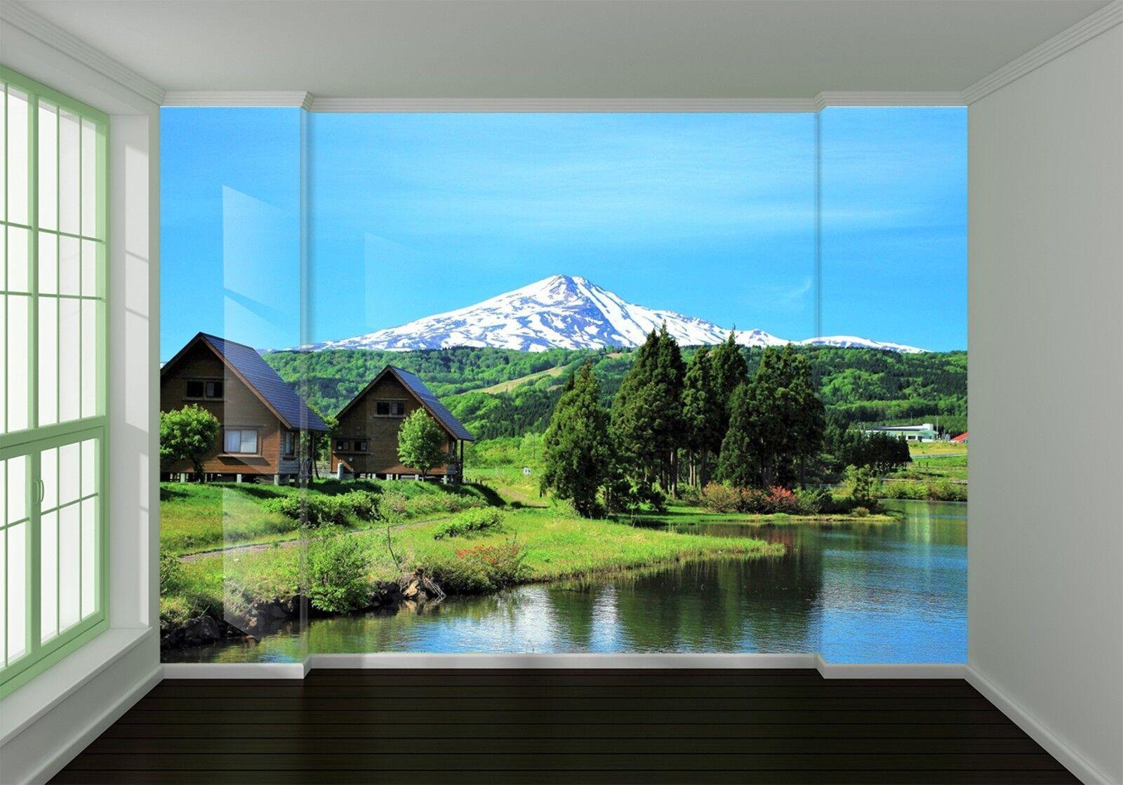 3D Wiese Villa Landschaft 8757 Tapete Wandgemälde Tapeten Bild Bild Bild Familie DE Lemon | Beliebte Empfehlung  |  206860