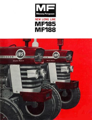 Massey Ferguson MF185 MF188 Australian Brochure 1970s