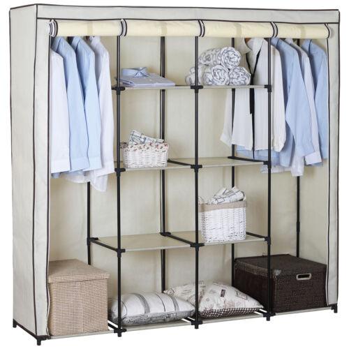 XXXL kleiderschrank Garderobenschrank Faltschrank DIY großer Raum mit Tür Creme